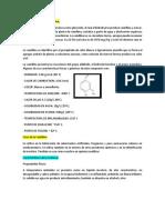 Características de La Vainillina