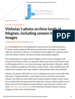 Vishniac's photo archive lands at Magnes, including unseen Israel images | Jweekly 2018.11.20