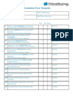 2. Complex Interview Evaluation Form 2