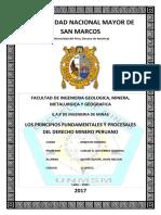 [INFORME] PRINCIPIOS FUNDAMENTALES Y PROCESALES DEL DERECHO MINERO.docx