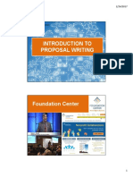 Proposal Writing Presentation