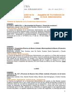 Boletín Infojuba Contencioso Especial Adm. Nro 29