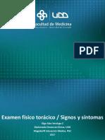 4. Examen físico torácico