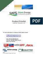 GES Pricelist Solar panel