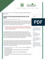 Proyek Di Cut Off Jika Denda Keterlambatan Lebih Dari 5% Nilai Kontrak