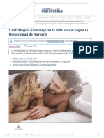 5 Estrategias Para Mejorar La Vida Sexual Según La Universidad de Harvard - La Mente Es Maravillosa