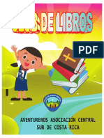 Lista  Oficial Club de Libros 2019 Aventureros Asociación Central Sur de Costa Rica
