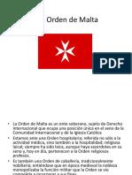 La Orden de Malta
