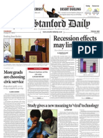 The Stanford Daily, Oct. 21, 2010