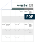 Calendar - November