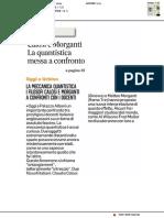 Calosi e Morganti, la meccanica quantistica a confronto - Il Corriere Adriatico del 22 gennaio 2019