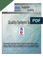 quality system basics