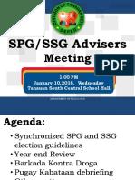 2018 SPG SSG Adviser Meeting