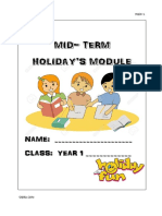 Holiday Module for English Year 1