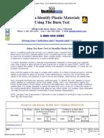 Plastic Burn Test