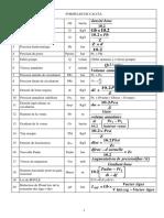 Formules de Calcul