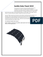 Best Flexible Solar Panel 2019