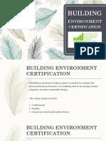 Building Environment Certification