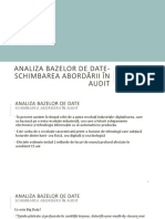 Analiza Bazelor de Date Final