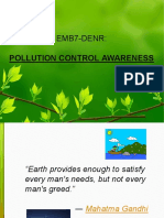 Pollution Control Awareness