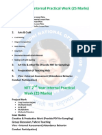 Ignoc Practical & Internal Marks Scheme
