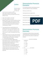 What is a Demonstrative Pronoun