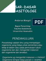 Dasar Dasar Parasitologi