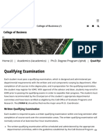 Qualifying Examination _ College of Business