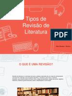 Tipos de Revisão de Literatura - Slide