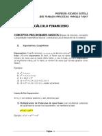 Conceptos Preliminares Básicos Cálculo Financiero