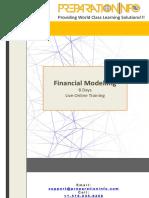 Financial Modeling 8 Day LVC Agenda PreparationInfo