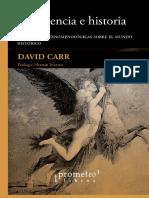 Traduccion y Prologo de D. Carr Experiencia y historia
