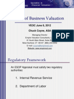 Basics of Business Valuation
