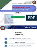 REKAYASA SUMBERDAYA AIR [kuliah-14]-Optimasi I.pptx