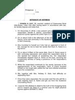 affidavit of wtness