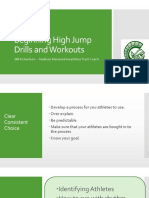 Drills and Workouts for Beginning High Jumpers