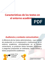 Características de Los Textos Propios Del Entorno Académico_ESTRAT. COMUNICACION