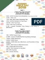 Parish Bible Day Activities