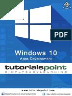 Windows10 Development Tutorial