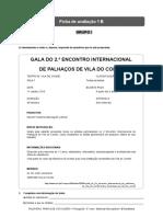 Santillana P5 Ficha de Avaliacao 1B
