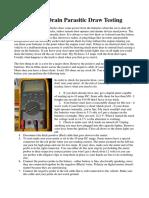 Battery Drain Parasitic Draw Testing