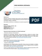 CV Facundo Moreira Speranza