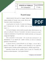 Examen 3 Eme Trimestre 6 Eme Année Lecture Le Grand Voyage