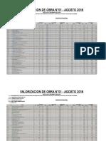 VALORIZACION CORAPATA N° 01 AGOSTO CORREGIDO