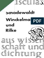 Schadewaldt,1968,Winckelmann Und Rilke