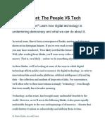 Blinkist_ The People VS Tech