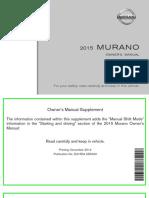 manual nissan murano 2015