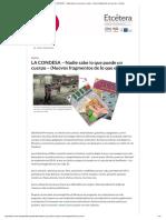LA CONDESA – Nota Etcétera de Lali y Claudia