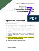 Producción de Material Educativo en Línea