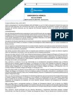 Declaración de la emergencia hídrica en el NOA y Litoral